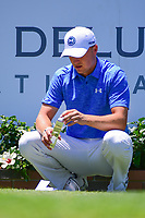 Jordan Spieth (USA) prepares to tee off on 1 during the round 1 of the Dean &amp; Deluca Invitational, at The Colonial, Ft. Worth, Texas, USA. 5/25/2017.<br /> Picture: Golffile | Ken Murray<br /> <br /> <br /> All photo usage must carry mandatory copyright credit (&copy; Golffile | Ken Murray)