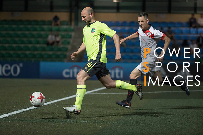 KCC Veterans (in green) vs Yau Yee League Masters (in white)during their Masters Tournament match, part of the HKFC Citi Soccer Sevens 2017 on 26 May 2017 at the Hong Kong Football Club, Hong Kong, China. Photo by Chris Wong / Power Sport Images