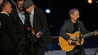 NEW YORK, NY - OCTOBER 4: Sting, James Taylor and Paul Simon at Paul Simon's Children's Health Fund's 25th Anniversary Benefit Concert at Radio City Music Hall on October 4, 2012. Credit Jen Maler/MediaPunch Inc. © /NortePhoto /©NortePhoto