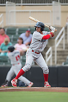 Herlis Rodriguez (33) of the Lakewood BlueClaws at bat against the Kannapolis Intimidators at Intimidators Stadium on July 14, 2015 in Kannapolis, North Carolina.  The Intimidators defeated the BlueClaws 8-2.  (Brian Westerholt/Four Seam Images)