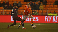 Blackpool's Callum Guy and Arsenal's Ainsley Maitland-Niles<br /> <br /> Photographer Stephen White/CameraSport<br /> <br /> Emirates FA Cup Third Round - Blackpool v Arsenal - Saturday 5th January 2019 - Bloomfield Road - Blackpool<br />  <br /> World Copyright © 2019 CameraSport. All rights reserved. 43 Linden Ave. Countesthorpe. Leicester. England. LE8 5PG - Tel: +44 (0) 116 277 4147 - admin@camerasport.com - www.camerasport.com