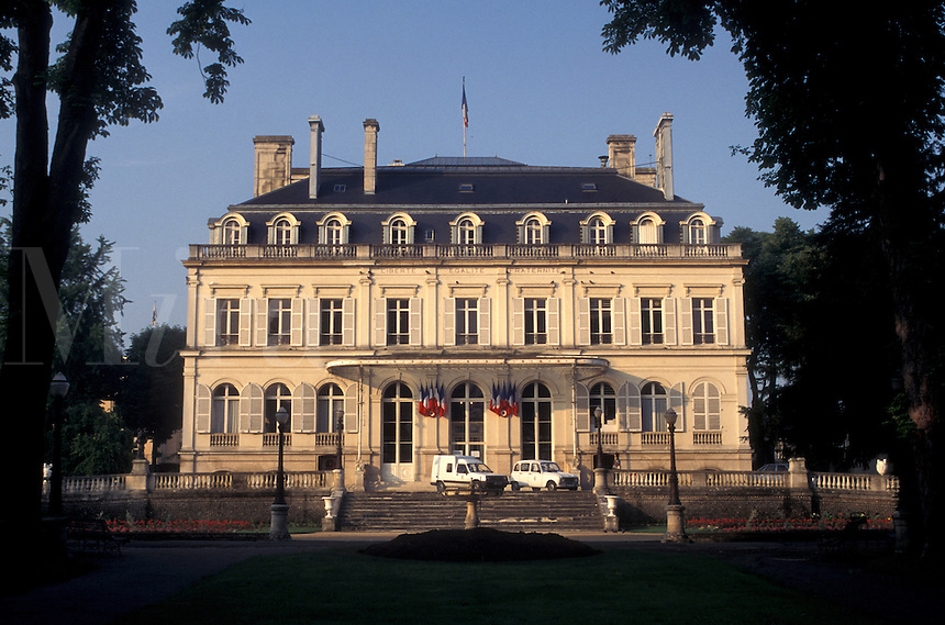 France, Champagne, Epernay, Marne, Europe, Town Hall in the city of Epernay in the Champagne Region of France.
