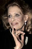 FILE PHOTO - Melina Mercouri<br /> , circa 1987 (exact date unknown)<br /> <br /> <br /> PHOTO :   Agence quebec Presse