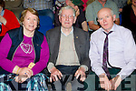Peggy Reidy, Danny Reidy and Tom Woulfe, all from Castleisland, enjoying World Fiddle Day held at Scartaglin Heritage Centre on Saturday night last.