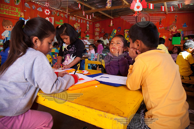 Santa Filomena's primary school in the department of Ayacucho.