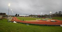 A general view of Parc Eirias<br /> <br /> Photographer Alex Dodd/CameraSport<br /> <br /> RBS Six Nations U20 Championship Round 4 - Wales U20s v Ireland U20s - Saturday 11th March 2017 - Parc Eirias, Colwyn Bay, North Wales<br /> <br /> World Copyright &copy; 2017 CameraSport. All rights reserved. 43 Linden Ave. Countesthorpe. Leicester. England. LE8 5PG - Tel: +44 (0) 116 277 4147 - admin@camerasport.com - www.camerasport.com