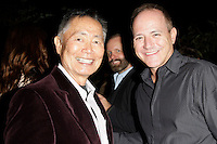 LOS ANGELES - NOV 9: George Takei, Michael Caprio at the special screening of Matt Zarley's 'hopefulROMANTIC' at the American Film Institute on November 9, 2014 in Los Angeles, California