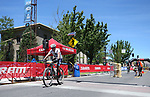 Lance Armstrong crosses the finish line of the second annual Carson City Off-Road in Carson City, Nev., on Saturday, June 17, 2017. <br />