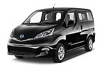 2016 Nissan E-Nv200-Evalia Connect-Edition 5 Door Mini MPV Angular Front stock photos of front three quarter view