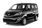 2016 Nissan E-Nv200-Evalia Connect-Edition 5 Door Mini MPV Angular Front stock photos of front three quarter view