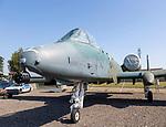 Fairchild Republic A-10A Thunderbolt 11 fighter plane, Bentwaters Cold War museum, Suffolk, England, UK