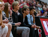 Stanford, California - November 5, 2019: Stanford Women's Basketball wins the home opener over Eastern Washington 92-27 at Maples Pavilion in Stanford, California.