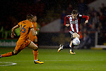 David Brooks of Sheffield Utd in a action during the Championship match at the Bramall Lane Stadium, Sheffield. Picture date 27th September 2017. Picture credit should read: Simon Bellis/Sportimage
