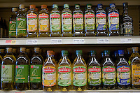 Bertoli Olive oil (huile d'olives) are seen in a Metro grocery store in Quebec city March 4, 2009. Bertolli is an international brand of Italian and Mediterranean food and is the global market leader for olive oil.