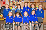 BIG SCHOOL: Pupils who started in Asdee National School were pictured front l-r: Muirne Donoghue, Clodagh Sheehy, Deirbhile O'Carroll and Niamh Daly. Back l-r: Brian Dineen, Saoirse Stack, Roisin Fogarty, Orla McElligott, Cormac Scanlan and Ella Pickett.
