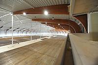 SCHAATSEN: LEEUWARDEN: 30-04-2015, Nieuwe ijsbaan in aanbouw de Elfstedenhal, Bezoek KNSB bestuurders, voorzitter Roel Dekker en Sippy Tigchelaar, ©foto Martin de Jong
