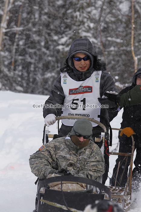 Michael Williams, Jr. Saturday, March 3, 2012  Ceremonial Start of Iditarod 2012 in Anchorage, Alaska.