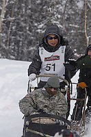 Michael Williams, Jr. Saturday, March 3, 2012  Ceremonial Start of Iditarod 2012 in Anchorage, Alaska.