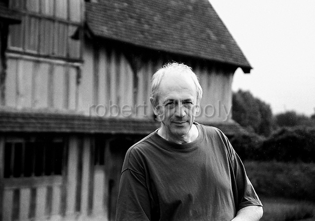 British award-winning author Alan Garner stands outside his home in Cheshire, England.