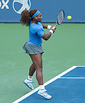 Serena Williams (USA) defeats Simona Halep (ROU), 6-0, 6-4 at the Western & Southern Open in Mason, OH on August 16, 2013.