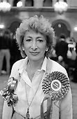 Lady Shirley Porter, leader of Westminster Council, at Porchester Hall, Bayswater on the night of the local elections in May 1986.