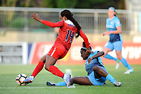 Boyds, MD - Saturday May 06, 2017: Francisca Ordega, Mandy Freeman during a regular season National Women's Soccer League (NWSL) match between the Washington Spirit and Sky Blue FC at Maureen Hendricks Field, Maryland SoccerPlex.