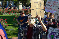 "October 6, 2011  (Washington, DC)  Hundreds of people from around the country descended on Washington for ""Occupy DC"", a movement that has spread from New York City's ""Occupy Wall Street""    (Photo by Don Baxter/Media Images International)"