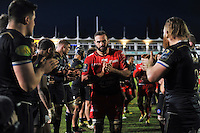 Mamuka Gorgodze of Toulon leads his team off the field after the match. European Rugby Champions Cup match, between Bath Rugby and RC Toulon on January 23, 2016 at the Recreation Ground in Bath, England. Photo by: Patrick Khachfe / Onside Images