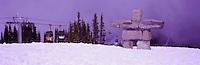Inukshuk on Whistler Mountain, Whistler Ski Resort, BC, British Columbia, Canada - Symbol of the 2010 Winter Olympics
