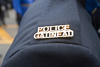 Gatineau Police badge is seen during a police memorial parade in Ottawa Sunday September 26, 2010.
