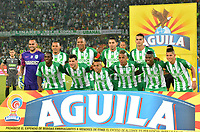 MEDELLIN- COLOMBIA, 1-11-2018:Formación del Atlético Nacional campeón de la Copa Águila 2018 al ganar al Once Caldas  durante partido por la final vuelta de la Copa Águila 2018 jugado en el estadio Atanasio Girardot  de la ciudad de Medellín . / Team of Atletico Nacional champion of Aguila Cup 2018 by winning the Once Caldas  during  match for the second leg final of the Aguila Cup 2018 played at the Atanasio Girardot Stadium in Medellin  city. Photo: VizzorImage / León Monsalve  / Contribuidor