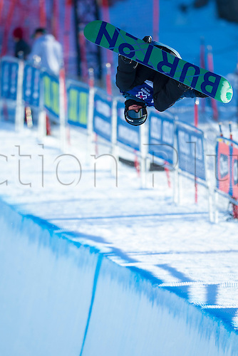 25.02.2016. Wyller Oslo Winter Park, Oslo, Norway.  X Games Oslo 2016. Mens Snowboard SuperPipe Round 1. Christian Haller of Switzerland competes in the men's Snowboard SuperPipe elimination  during the X Games Oslo 2016 at the Wyller Oslo winter park in Oslo, Norway.