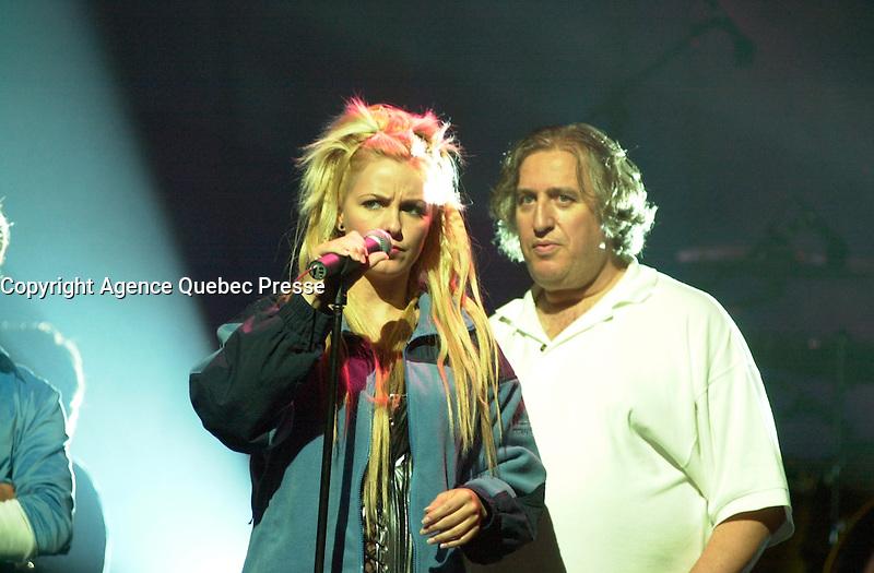 Veronique Cloutier and Louis Saia on<br />  the set of LES DANGEREUX, Directed by Louis Saia<br /> <br /> photo : (c)  Images Distribution