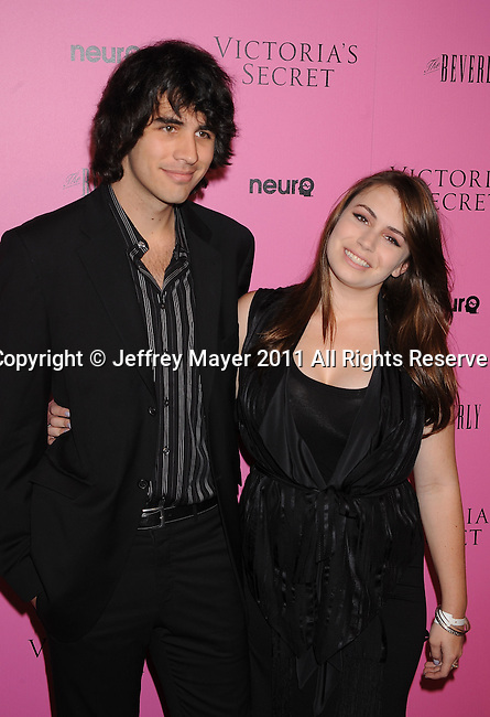 "LOS ANGELES, CA - MAY 12: Nicholas Simmons and Sophie Simmons arrive to the Victoria's Secret 6th Annual ""What Is Sexy? List: Bombshell Summer Edition"" Pink Carpet Event at The Beverly on May 12, 2011 in Los Angeles, California."