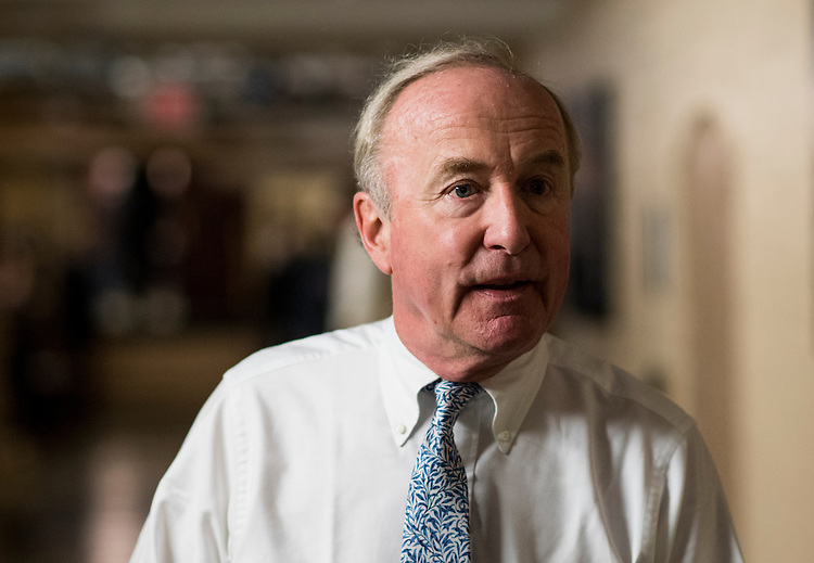 UNITED STATES - NOVEMBER 30: Rep. Rodney Frelinghuysen, R-N.J., leaves the House Republican Conference meeting in the Capitol on Wednesday, Nov. 30, 2016. (Photo By Bill Clark/CQ Roll Call)