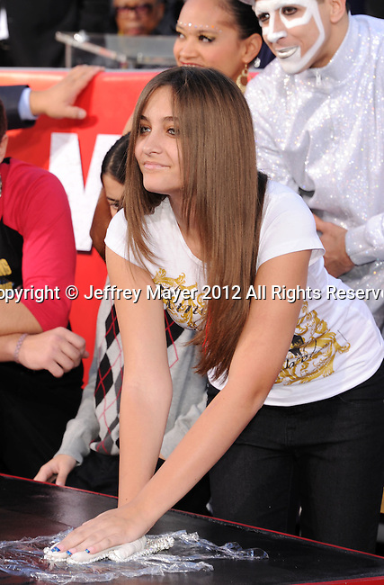 HOLLYWOOD, CA - JANUARY 26: Prince Jackson and Paris Jackson during the Michael Jackson Hand And Footprint Ceremony at Grauman's Chinese Theatre on January 26, 2012 in Hollywood, California.