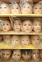 June 23, 2010- Tokyo, Japan - Love Doll heads are shown waiting for further processing at Orient Industry's factory in Tokyo, Japan, on June 23, 2010. Orient Industry is a 33-year-old company which is number one in Japan for producing over 1,000 Love Dolls annually, ranging in price from ¥90,000 to ¥700,000.