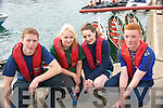0730-0735.---------.Choppy Waters.-------------.L-R Kevin Grandville,Marie Danagher,Lisa Grandville and Eoin Griffin from Dingle at the Brandon regatta last Sunday.