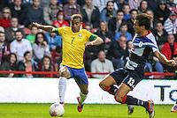 MIDDLESBROUGH, INGLATERRA, 20 JULHO 2012 - AMISTOSO INTERNACIONAL - BRASIL X GRA-BRETANHA - O jogador Lucas, da Seleção Brasileira, durante amistoso contra a Grã-Bretanha, no estádio Riverside, em Middlesbrough, na Inglaterra, no último jogo antes do início da Olimpíada. (FOTO: GUILHERME ALMEIDA / BRAZIL PHOTO PRESS).