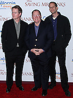 "BURBANK, CA - DECEMBER 09: Andrew Stanton, John Lasseter, Pete Docter arriving at the U.S. Premiere Of Disney's ""Saving Mr. Banks"" held at Walt Disney Studios on December 9, 2013 in Burbank, California. (Photo by Xavier Collin/Celebrity Monitor)"
