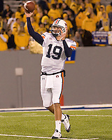 October 23, 2008: Auburn quarterback Neil Caudle. The West Virginia Mountaineers defeated the Auburn Tigers 34-17 on October 23, 2008 at Mountaineer Field, Morgantown, West Virginia.