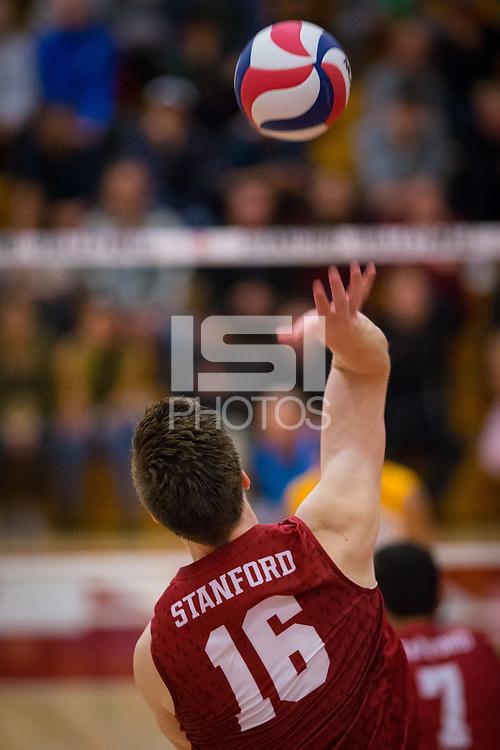 STANFORD, CA - March 10, 2018: Matt Klassen at Burnham Pavilion. UC Irvine defeated the Stanford Cardinal, 3-0.