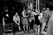 "Krasnodar, Russia  .1998.On the ""Day of Independence"" young people gather to dance in the streets.."