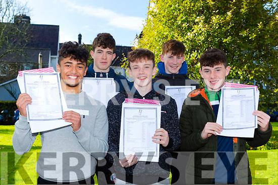 St Brendans College students  l-r: Darragh Donoghue Farranfore, Aaron Flynn Firies, Diarmuid O'Donoghue Glenflesk, Ruairi Doyle Fossa and Niall McGillicuddy Killarney delighted to get their Junior cert results on Wednesday