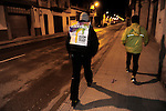"People walk to receive the ""19th Korrika"" early in Lodosa on March 26, 2015, Basque Country. The ""19th Korrika"" a relay of hand to hand baton passing without interruption over 11 days and 10 nights crossing many Basque villages and cities, totalling some 2300 kilometres in a bid to promote the basque language.The ""Korrika"" this year end in Bilbao on March 29. (Ander Gillenea / Bostok Photo)"