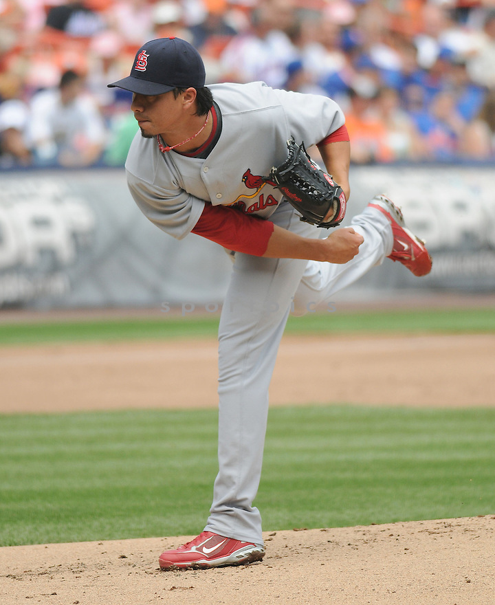 KYLE LOHSE, of the St. Louis Cardinals  in action against the New York Mets  during the Cardinals game in New York, New York on July 27,  2008... The Mets won the game 9-1