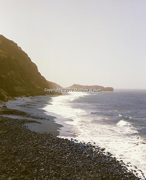 Salinas de Dentre beach on the island Fogo, Cape Verde, Africa.