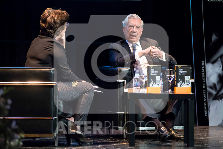 "Peruvian writer Mario Vargas Llosa present his last book ""Cinco Esquinas"" at CBA Madrid March 07, 2016. (ALTERPHOTOS/BorjaB.Hojas)"