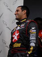May 5, 2007; Richmond, VA, USA; Nascar Nextel Cup Series driver Juan Pablo Montoya (42) prior to the Jim Stewart 400 at Richmond International Raceway. Mandatory Credit: Mark J. Rebilas