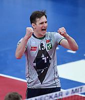 Volleyball 1. Bundesliga  Saison 2017/2018 TV Rottenburg - Hypo Tirol Alpen Volleys Haching     27.12.2017 JUBEL Alpen Volleys Haching; Stefan Chrtiansky